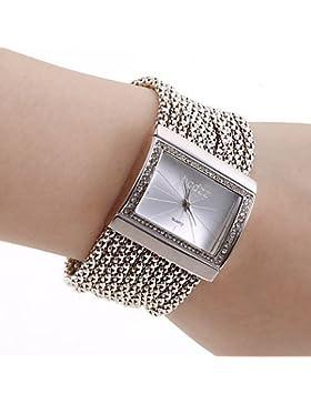 Fenkoo Damen silbernen Schmuck Armband mit Tschechischen Diamanten Dekor (Weiß)