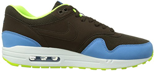 Nike Air Max 1 Essential 537383_Anderes Leder Herren Low-Top Sneaker Braun (Braun/Gelb)