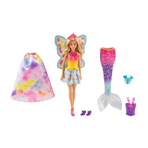 Barbie FJD08 - Dreamtopia 3-in-1 Fantasie Puppe,
