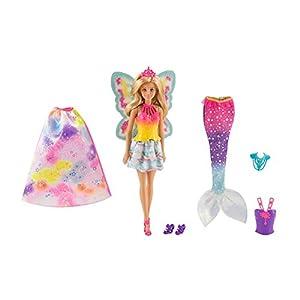 Barbie Dreamtopia, muñeca 3 en 1, princesa, hada y sirena (Mattel FJD08)