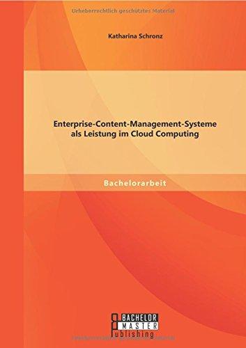 Enterprise-Content-Management-Systeme als Leistung im Cloud Computing