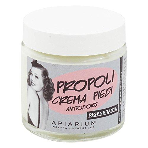 APIARIUM - Fußcreme mit Bio-Propolis - Beruhigende, feuchtigkeitsspendend, antibakteriell, gegen Gerüche, Glättung, Enthärtung - 100 ml