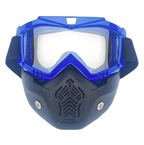 Beydodo Schnee Brille Fahrrad Vertikal Blau Durchsichtig Motorradbrille Nacht Sicherheitsbrille Brillenträger Schutzbrille Unisex