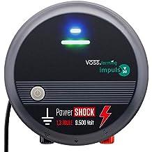 Voss.farming Pastor eléctrico V30, Electrificador de cercados 230V, para Perros Grandes,