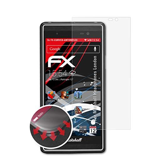 atFolix Schutzfolie passend für Marshall Headphones London Folie, entspiegelnde und Flexible FX Displayschutzfolie (3X)