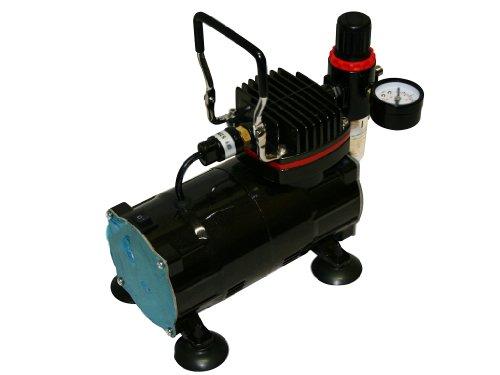 bc-elec–Mini Kompressor Airbrush Modell AS18–2Version Glossy Black