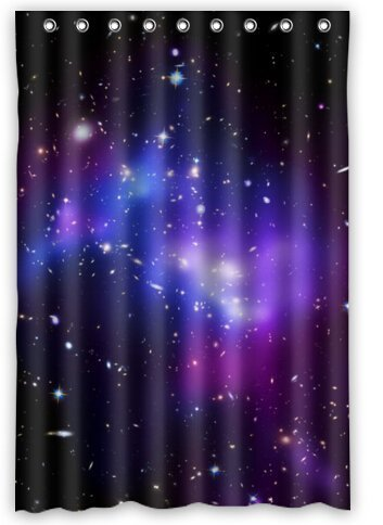 a689313136bc2 Fashion Custom Colorful Galaxy Waterproof Fabric Bath Shower Curtain 48