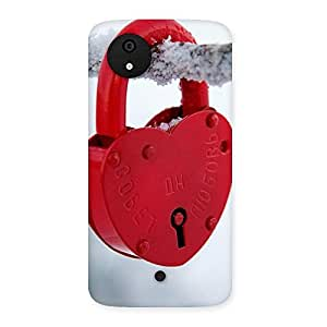 Luxirious Red Lock Multicolor Back Case Cover for Micromax Canvas A1