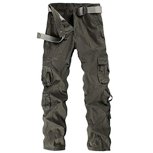 Men's Style Outdoor-Arbeitskleidung und Freizeit Hosen Baumwollhose(38,Grün-A) -
