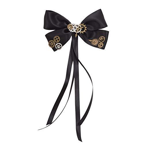 BLESSUME gotisch Frau Steampunk Gang Flügel Uhr Schmetterling Hut Spitze Haar Clip Kopfbedeckung (Z)