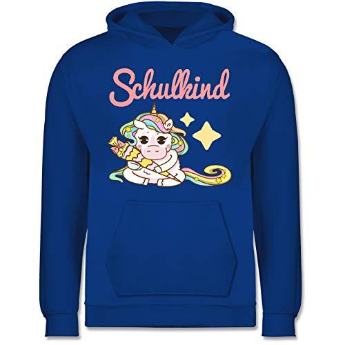 Shirtracer Einschulung und Schulanfang - Schulkind Einhorn mit Schultüte - 12-13 Jahre (152) - Royalblau - JH001K - Kinder Hoodie - Wrap-kinder Pullover