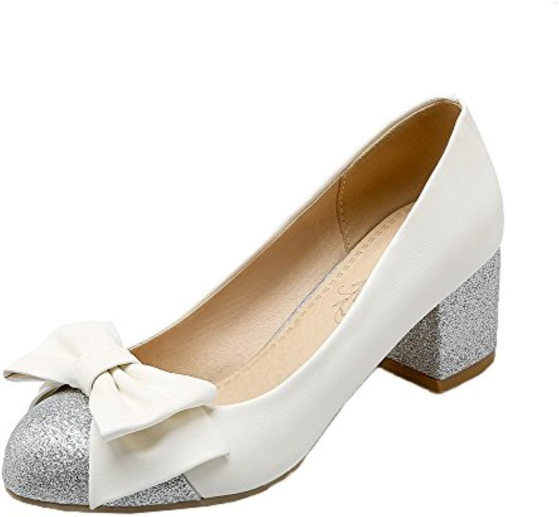 b629b7f6141 Odomolor Women s Pull-On Kitten-Heels PU Assorted Color Round-Toe Pumps-Shoes  Pumps-Shoes Pumps-Shoes B07CNM3HDW Parent db27cc