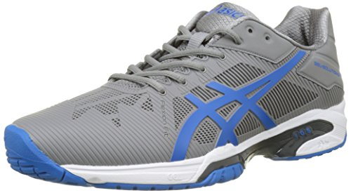 ASICS Gel-Solution Speed 3, Scarpe da Ginnastica Uomo, Grigio (Aluminum/Electric Blue/White), 41.5 EU