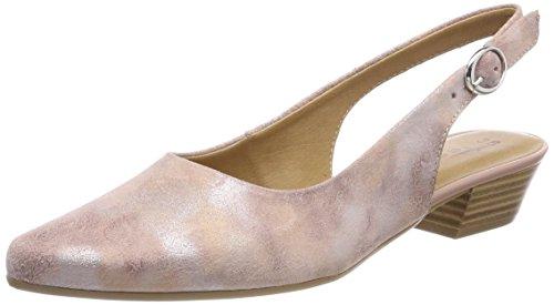 Tamaris Damen 29400 Slingback Sandalen, Pink (Rose Metl.Comb), 38 EU -