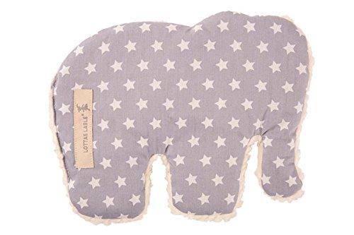 Lottas Label Wärmekissen Elefant 21 x 18 cm Star grau