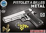 Elite series Pistolet Metal À Billes 22 Cm Argent 0.5 Joules...