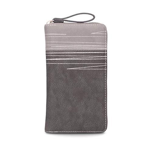 Zwei Geldbeutel Portemonnaie Geldbörse Cherie CH2-z Kunstleder, Farben Taschen:Nubuk-Stone