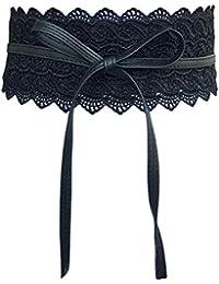 Oyccen Mujeres Cinturones de Encaje Anchos Vestido Decoración Cinturón  Bowknot ... 26efcddcef06