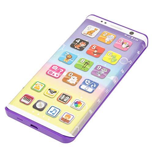Acogedor Juguete para teléfono inteligente, Multifuncional educativo Juguete para teléfono inteligente de plástico con puerto USB Teléfono de juguete con pantalla táctil para niños, niños, bebés