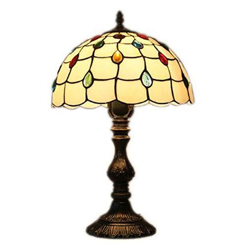 Y&HY Tiffany Stil handgemachte Tischlampe, Glasmalerei Material Lampenschirm Leselampen Wohnzimmer Schreibtisch Lichter