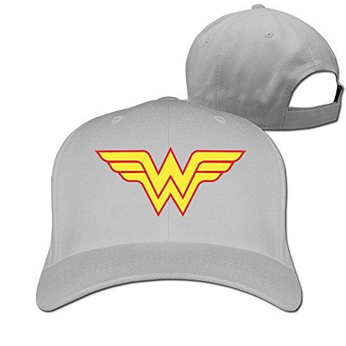 Hiphop Fashion ajustable mdlww Wonder Woman WW Cap niños -  Gris -
