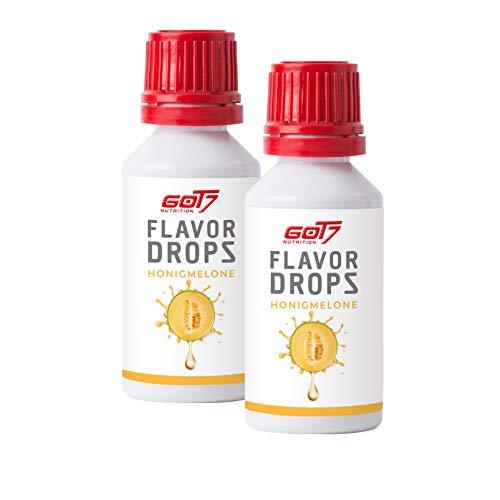 Got7 Flavordrops Mini - Aromatropfen - Flavordrops Kalorienfreies Aroma Lebensmittelaroma Diät Fitness 2x30ml (Honigmelone - Cantaloupe)