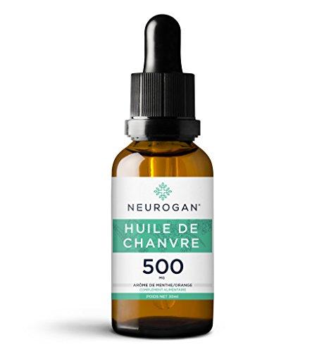 Neurogan Huile de Chanvre 30 ml | 500 MG | 100% Bio, Pure et Naturelle | Sommeil Plus Profond |...