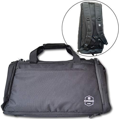 Bearformance® Ultimate Sportbag - Sporttasche für Männer & Frauen mit extra Schuhfach & Nassfach mit Rucksackfunktion für Sport, Training, Gym, Reise