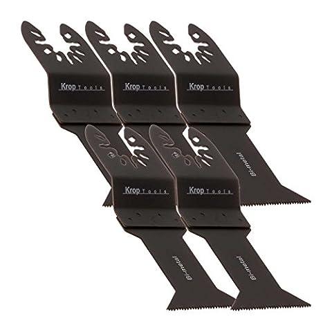 5 DeWalt Multifonction Lame de Scie Black & Decker BiMétallique de 44mm à Retrait Rapide Stanely FatMax WORX Sonicrafter Hyperlock par KROP
