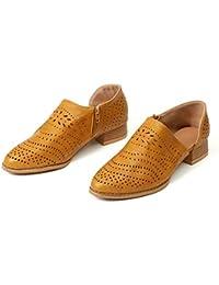 15a0081967dd Zapatos Mujer Verano Otoño Sandalias De Cuña Tobillo Boots Respirable Hueco  Redonda Toe Zapatos Botas Negro Rosado Amarillo Verde…
