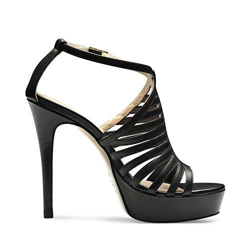 LUNA sandales femme cuir lisse Noir