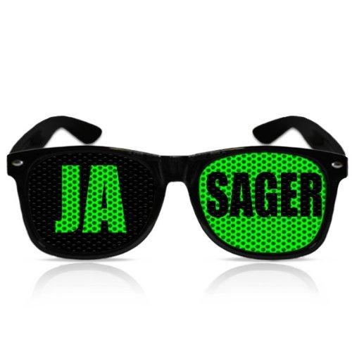 Partybrillen Spassbrille JGA Zubehör Accessoire Junggesellenabschied Party Sonnenbrille - Ja Sager (Schwarz)