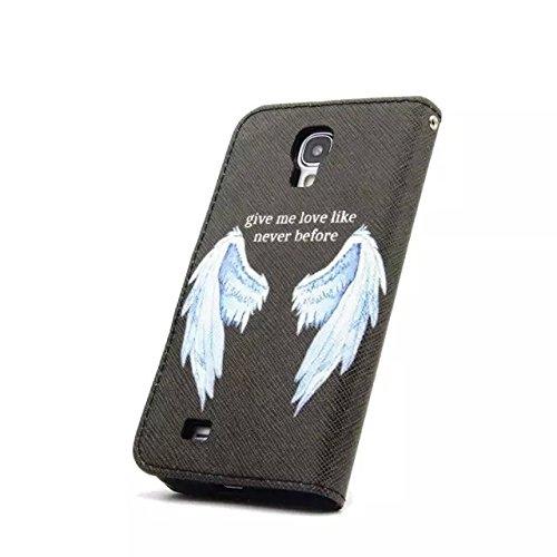 Sunroyal Chic Klapptasche Wallet Case Kunstlederhülle für Samsung Galaxy Grand Prime G530/G530H/G530FZ/G5308W/G5309W/G5306W SM-G530FZ - Cover Flip Tasche Schwarz Design Luxus Magnetic Flip Case mit Ka Pattern 16