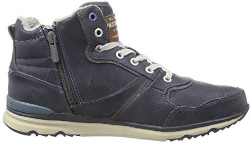 Mustang High Top Sneaker, Sneakers Hautes homme Bleu (800 Dunkelblau)