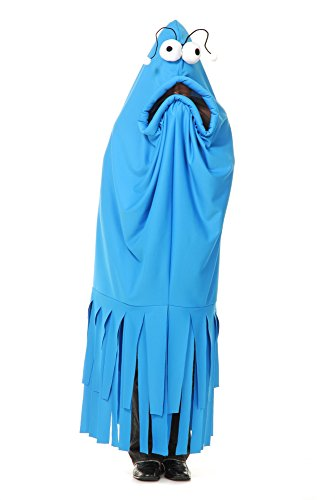 Adult Blue Monster Madness Fancy Dress Costume Standard (Sesame Street Fancy Dress Kostüm)