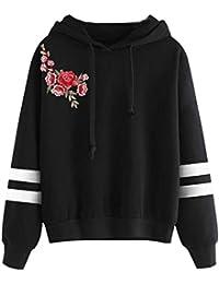 Minetom Mujeres Sudaderas con Capucha Hoodies Camisetas Manga Larga Encapuchado Camisa de Entrenamiento Tops Pullover Outwear