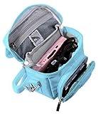 Orzly Umhängetasche in hoher Qualität für Nintendo DS (geeignet für alle DS-Versionen mit klappbarem Display:DS / DS Lite / 3DS / 3DS XL / New 3DS / New 3DS XL / 2DS XL)–tragbare Tasche mit Tragegriff und verstellbarem Schultergurt - Befestigung für Gürtel - blau