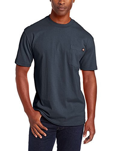 Dickies - - Herren WS450 Heavyweight Crew Neck T Blau