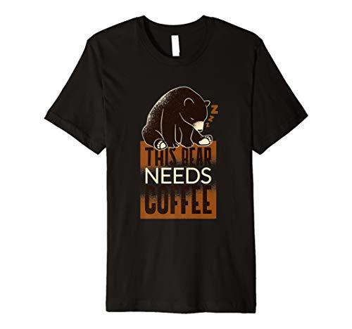 Kaffee Bär T-Shirt Geschenk