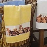 framsohn Handtuch Katzen 50 x 100 cm Limone - Gelb