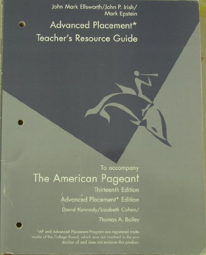 Teacher's Resource Guide to Accompany (The American Pageant For the Advanced Placement Program)