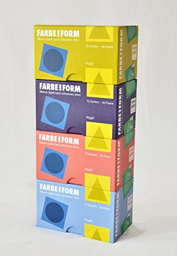 Color and Form - Farbe und Form: Memo game based on Johannes Itten 72 cards - 36 pairs  Allemand-Anglais