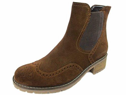 Gabor Damenschuhe 76.091.41 Damen Stiefeletten, Boots, Stiefel, in Comfort-Mehrweite, mit Reißverschluss Braun (Whisky (Mel.)), EU 7.5