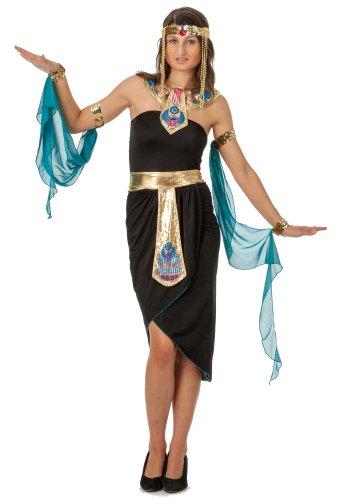 spass42 3 Teiliges Damen Kostüm Cleopatra Kleid Kleopatra Ägypten Nofretete Antike Pharao Orient Groesse: L/XL
