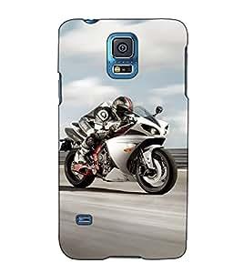 Fuson Designer Back Case Cover for Samsung Galaxy S5 :: Samsung Galaxy S5 G900I :: Samsung Galaxy S5 G900A G900F G900I G900M G900T G900W8 G900K (Motorbike theme)