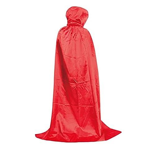 Halloween Costume De Costume Rouge - LAEMILIA Déguisement Unisexe Adultes Homme Femme Cape