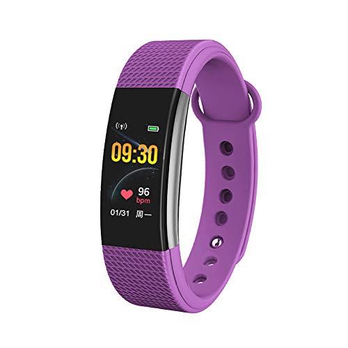 Bingo F1s Smart Health Band with Waterproof Heart Rate Sleep Monitor pedometers Calorie Counter Call Reminder Men Women Boys Kids (Purple)