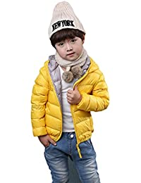 Vlunt Chaleco infantil con capucha para invierno, relleno de plumas
