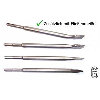 SP Tools SDS-Plus-Meißel-Set | 4-teilig | Fliesenmeißel 40 x 250, Flachmeißel 40 x 250, Flachmeißel 20 x 250, Spitzmeißel |in praktischer Drehbox | für den Gewerblichen Einsatz
