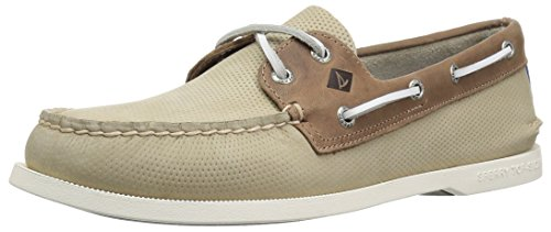 Sperry Top-Sider 019_Patent Leather, Scarpe da Barca Uomo, Beige (Cream/Tan), 40